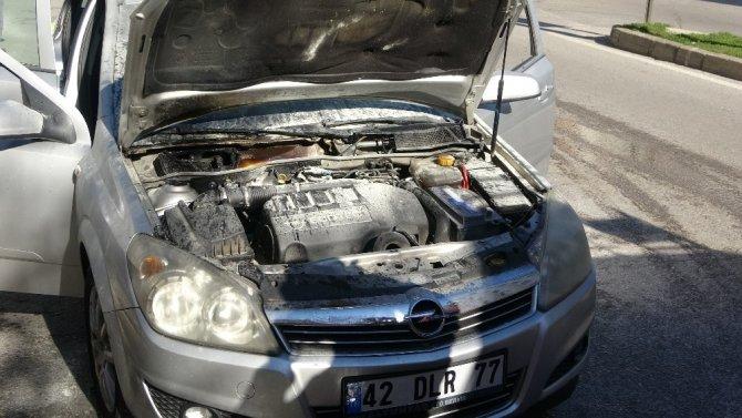 Kırklareli'de araç yangını