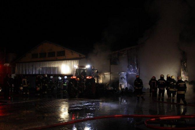 Konya'da elektrik kontağı tavuk çiftliğini yaktı