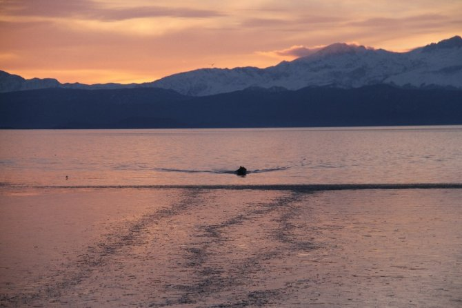 Beyşehir Gölü'nde görsel şölen