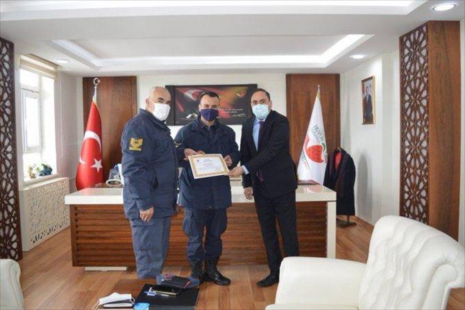 Hüyük'te jandarma personeline başarı belgesi verildi