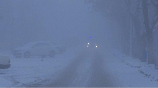 Kars'ta yoğun sis uçuşları engelledi