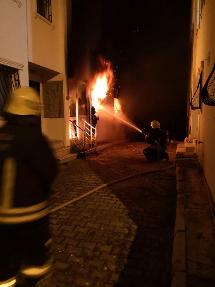 Villada korkutan yangın