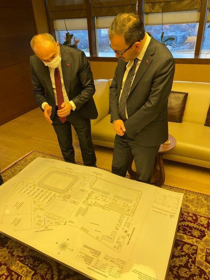 Bakan Kasapoğlu ile spor kompleksi için görüşme sağlandı