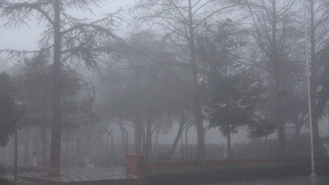 Çorlu güne sisle uyandı