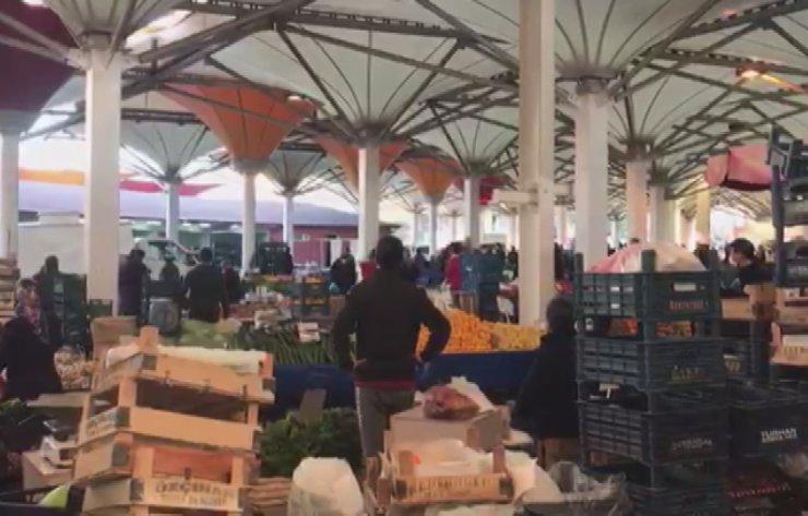 Konya'da pazar yerinde silahlar konuştu! Gözaltına alındılar