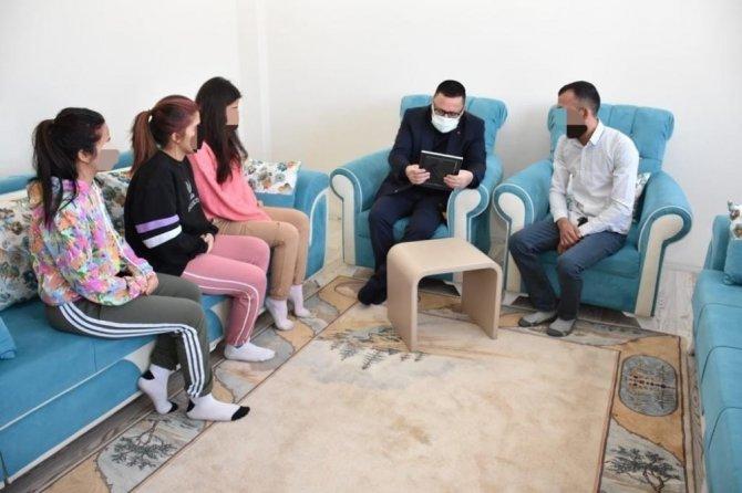Tutuklu baba çocukları için mektupla destek istedi, aileye Başkan Beyoğlu sahip çıktı