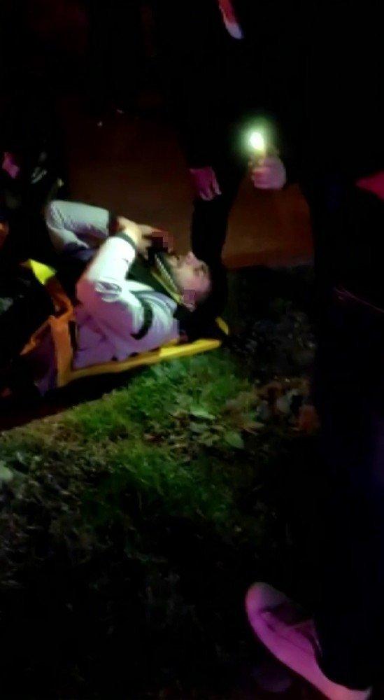 Tır otomobile çarptı, sürücü araçta sıkıştı