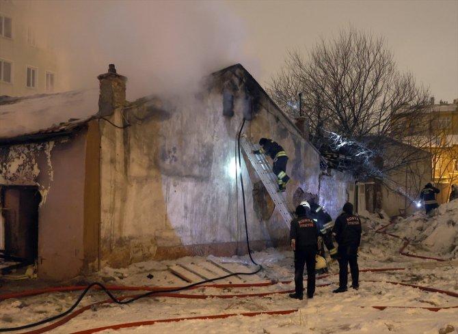 Konya'da müstakil evde çıkan yangın hasara yol açtı