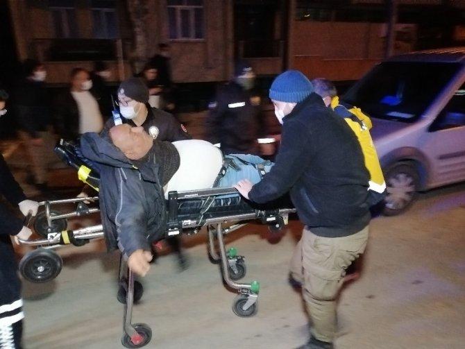 280 promil alkollü adam buzda kayıp düşerek ağır yaralandı