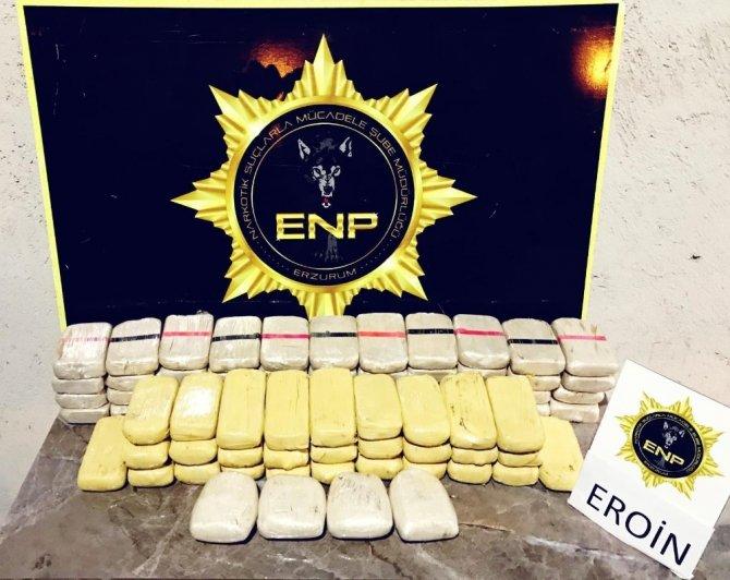 Bavul içerisinde 39 kilo 351 gram uyuşturucu maddesi ele geçirildi