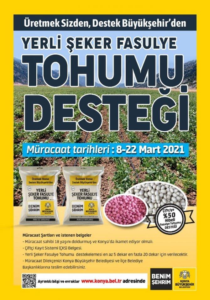 Konya Büyükşehir'den çiftçilere büyük destek!