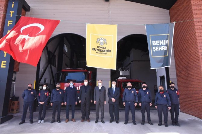 Çumra İtfaiye Merkezi açıldı