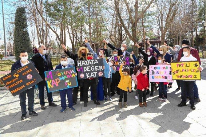 Meram Belediyesinden özel çocukları sevindiren sürpriz