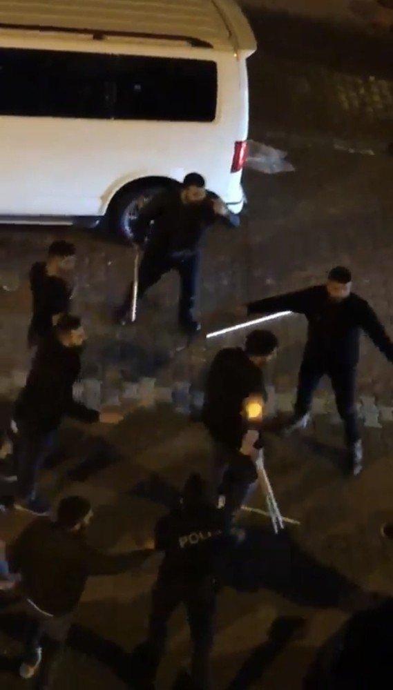 Önce iş yeri bastılar sonra polise saldırdılar