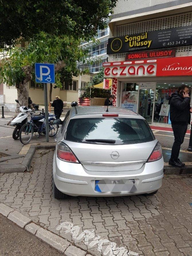 Yanlış park yapanlara ceza