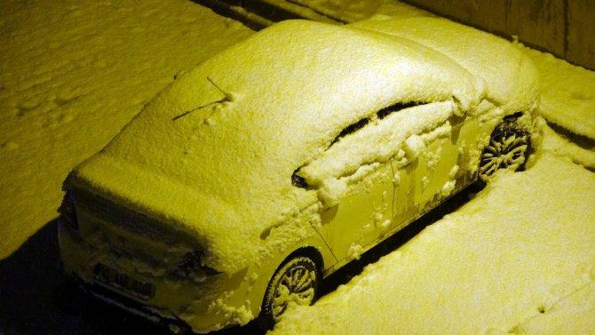 Mart ayına rağmen, lapa lapa kar yağışı