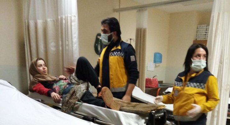 Ayağına batan çivili tahta ile hastaneye getirildi