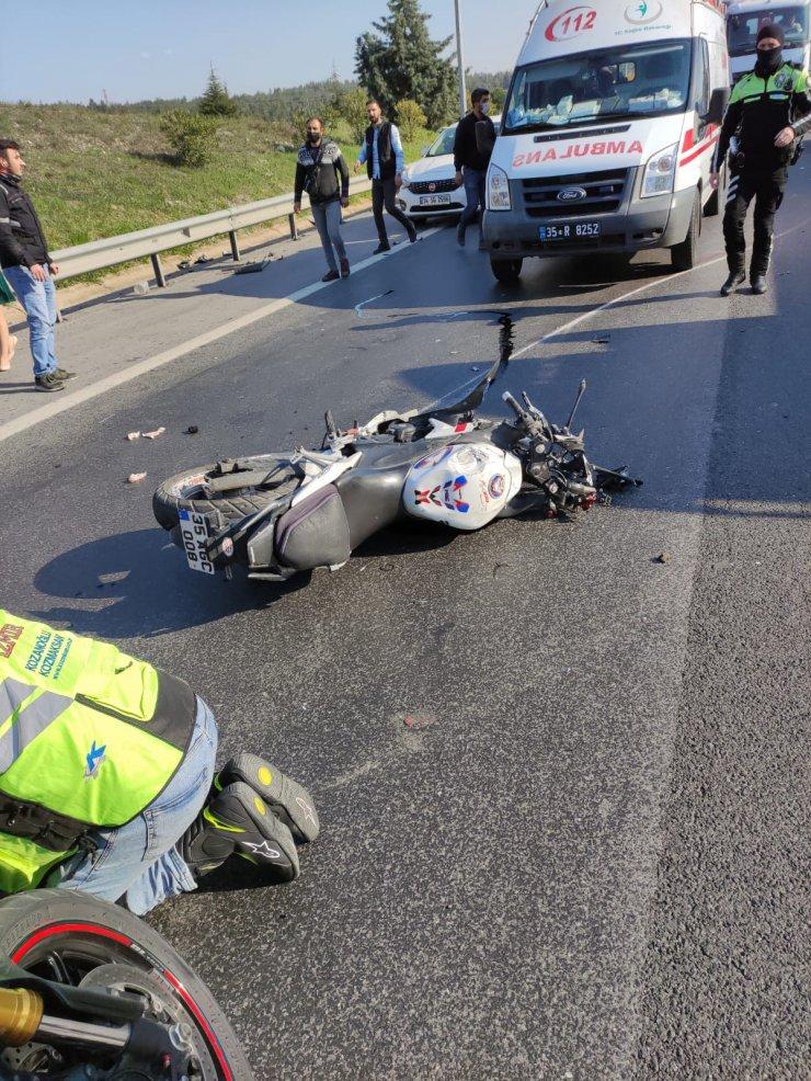 Kamyonla çarpışan motosikletin sürücüsü hayatını kaybetti