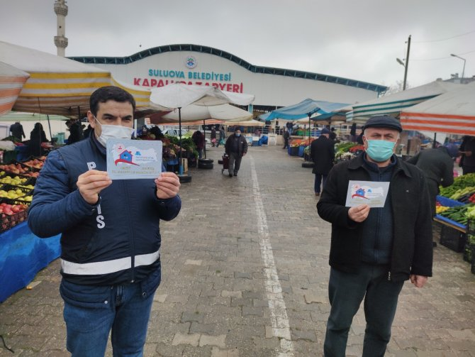 4 ay sonra kurulan ilk cumartesi pazarında vatandaşlara uyarı