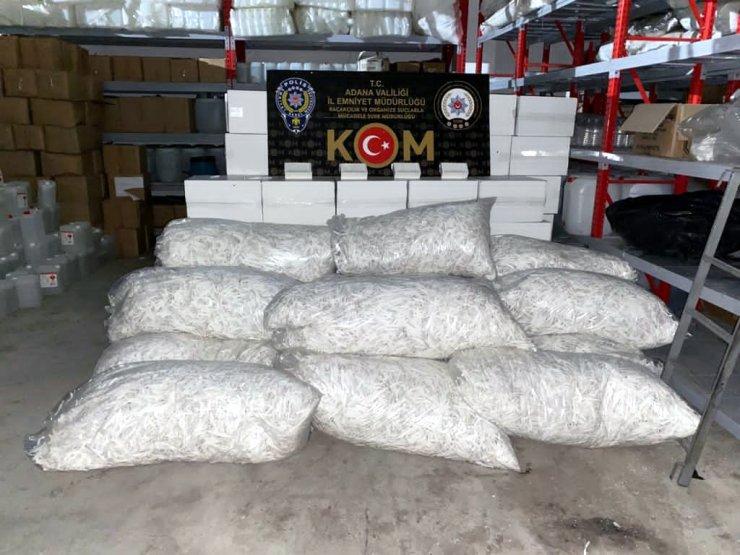 Adana'da kaçakçılık ve sahte içki operasyonu