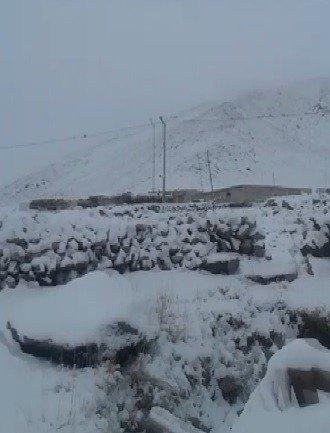 Mart ayında Iğdır'ın yüksek kesimlerine kar yağdı