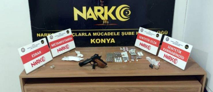 Konya'da uyuşturucu operasyonu: 25 gözaltı