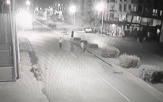 Baba ve oğlunun hayatını kaybettiği kaza kamerada