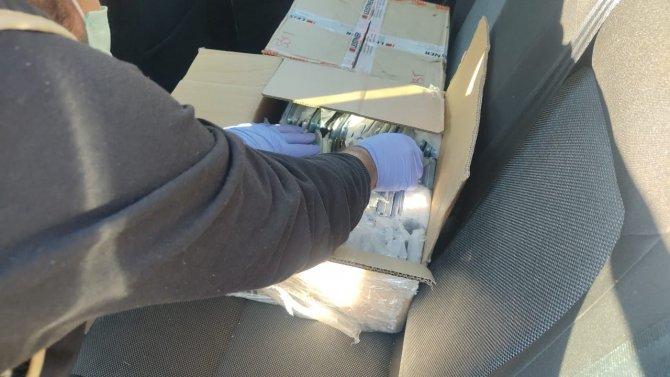 Şüpheli araçtan 494 adet kaçak telefon çıktı
