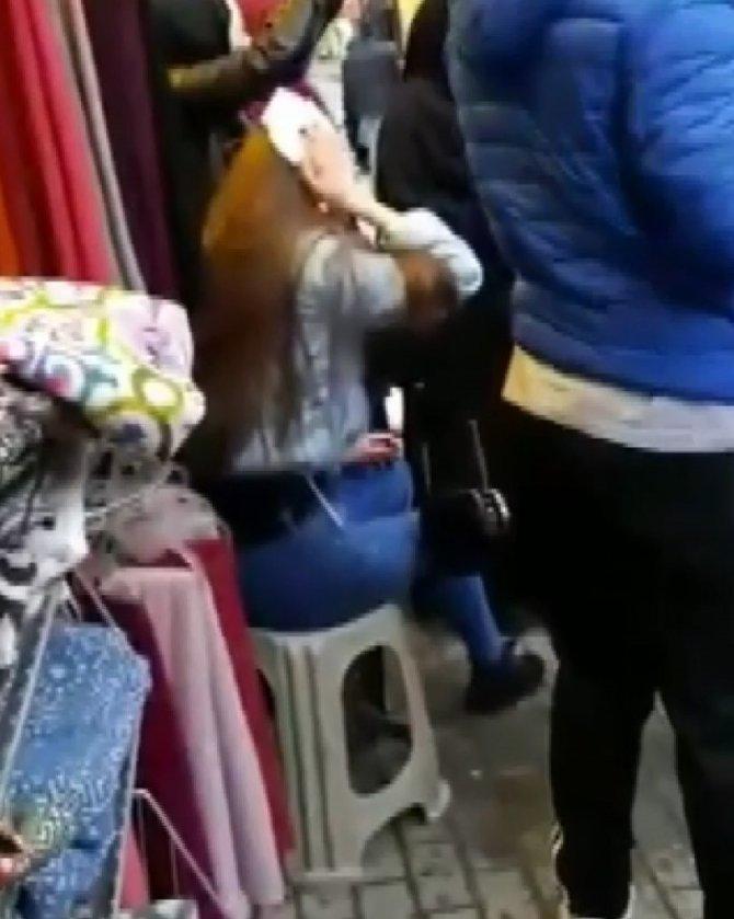Genç kız, tanımadığı kişi tarafından sokak ortasında 'Muşta' ile darp edildi