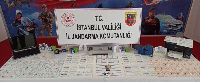 Jandarma'dan sahte nüfus cüzdanı ve ehliyet düzenleyen şahsa operasyon