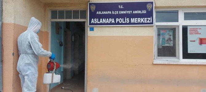 Aslanapa'da dezenfekte çalışmaları