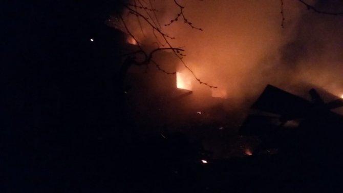 Karaman'da yangında 5 ev kullanılamaz hale geldi
