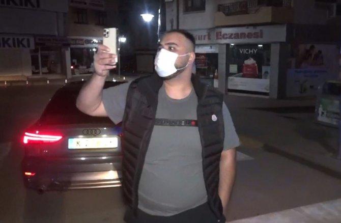 Yediği cezanın acısını polisleri görüntüleyerek çıkarmak istedi