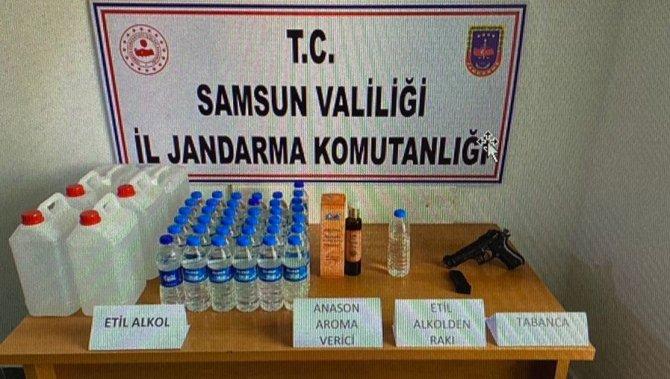 Kaçak etil alkol ele geçirildi: 1 gözaltı