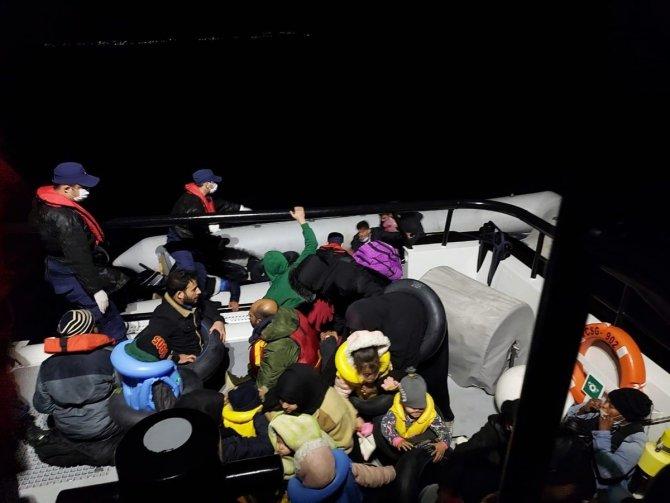 71 düzensiz göçmen kurtarıldı