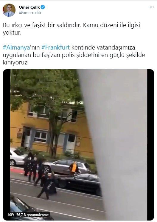 AK Parti Sözcüsü Çelik:Bu ırkçı ve faşist bir saldırıdır