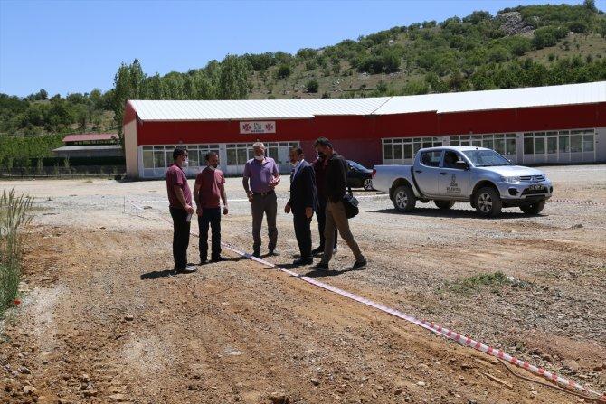 Hadim'de kiraz alım merkezine ek bina yapımı başladı