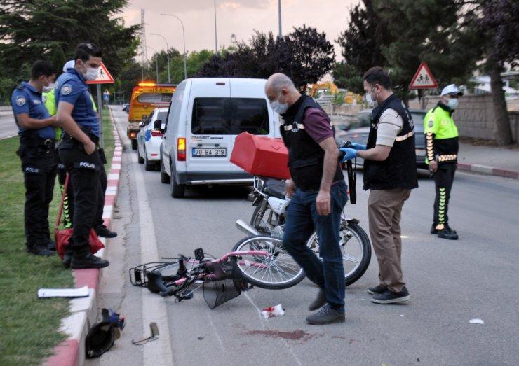 Motosiklet, bisikletli çocuğa çarptı: 2 yaralı