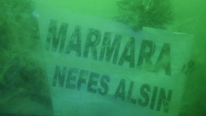 15 metre derinden Marmara Denizi için haykırdılar