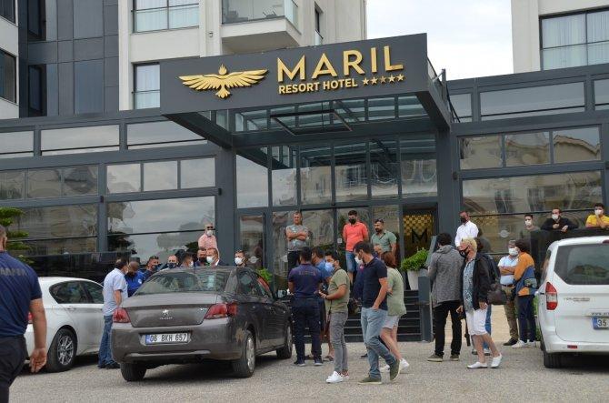 İşletme ruhsatı olmayan  otel mühürlendi