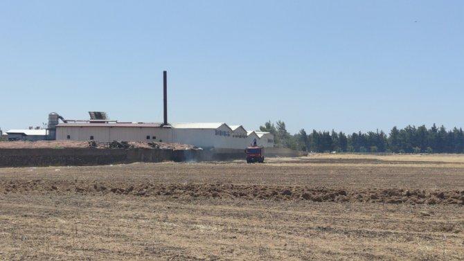 Anız yangını az kalsın fabrikayı yok ediyordu