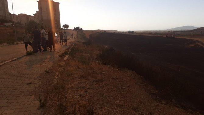 Osmaniye'de anız yangın korkuttu