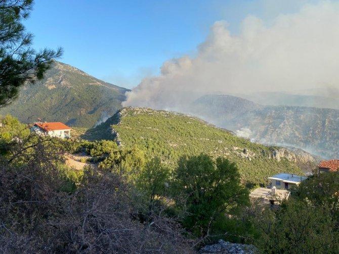 Akseki'de orman yangını devam ediyor