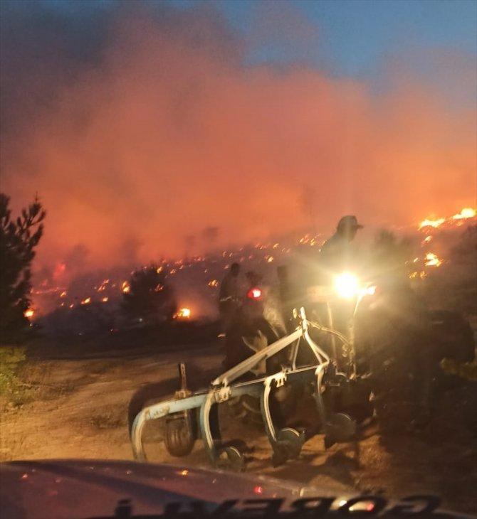 Manisa'nın Soma ilçesindeki ormanlık alanda çıkan yangın kısmen kontrol altında