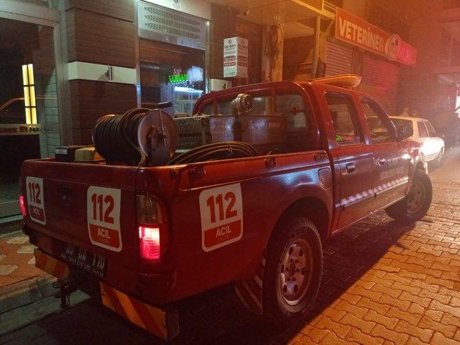 Aydın'da vatandaşın dikkati daha büyük bir yangını önledi