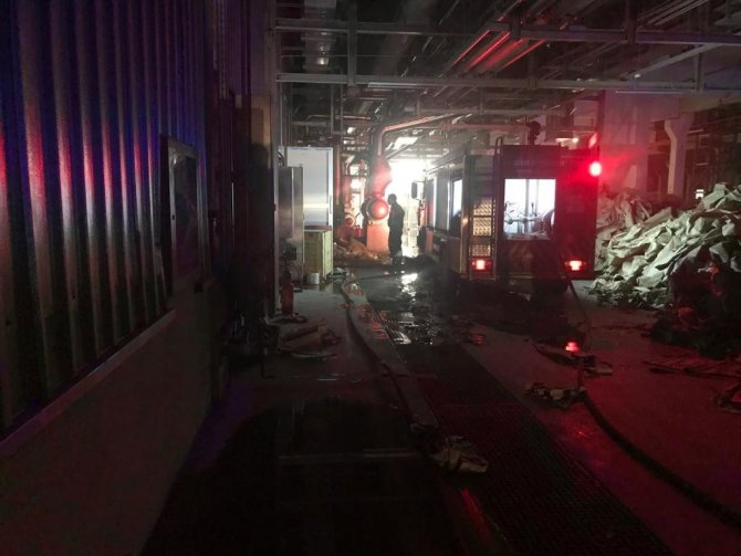 Kağıt fabrikasındaki yangın kontrol altına alındı