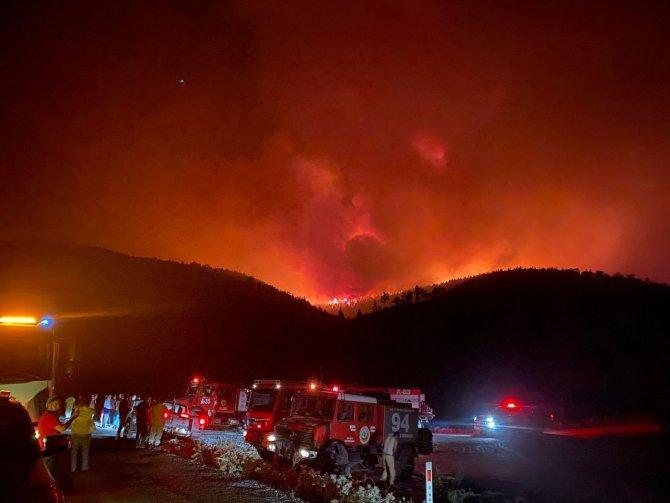 Milas'ta başlayan yangın Bodrum'a sıçradı