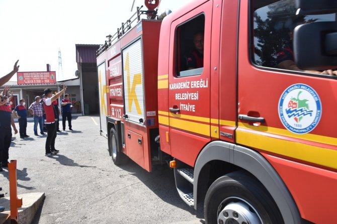 Yangın bölgesine yardıma koştular