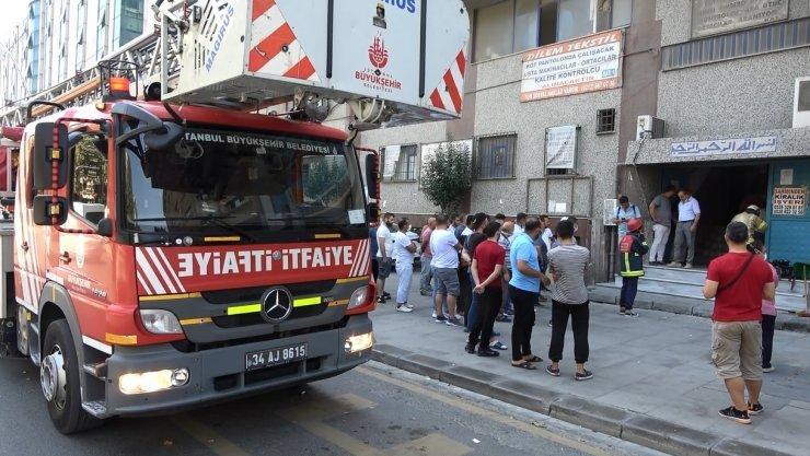 7 katlı iş merkezinde yangın