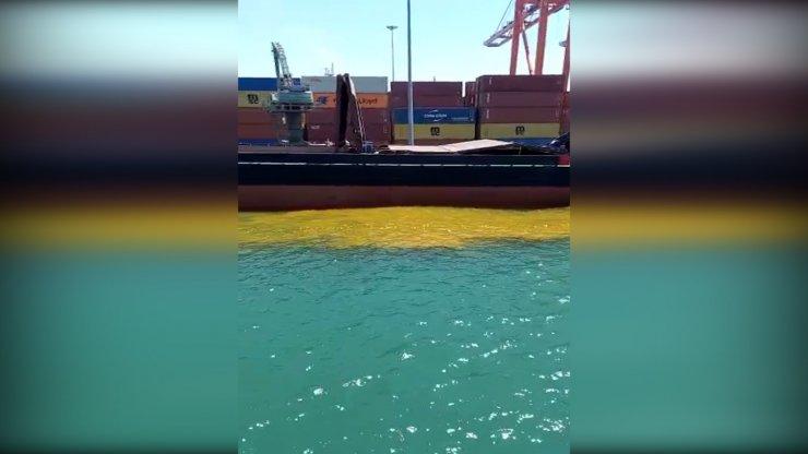 Denize kirli su bırakan gemiye 1 milyon 355 bin TL ceza